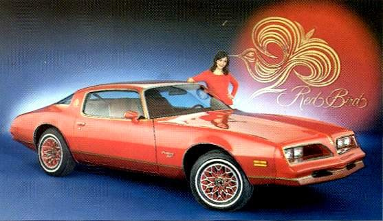 1978 pontiac firebird red bird