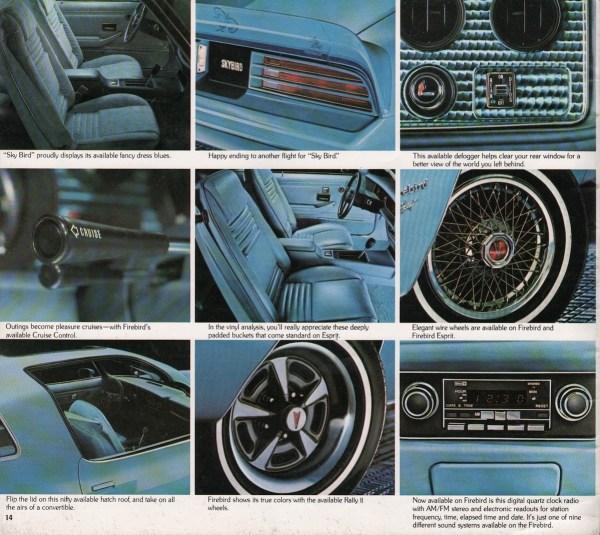 1978 pontiac firebird skybird brochure