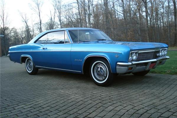 Chevrolet 1966 impala ss blue