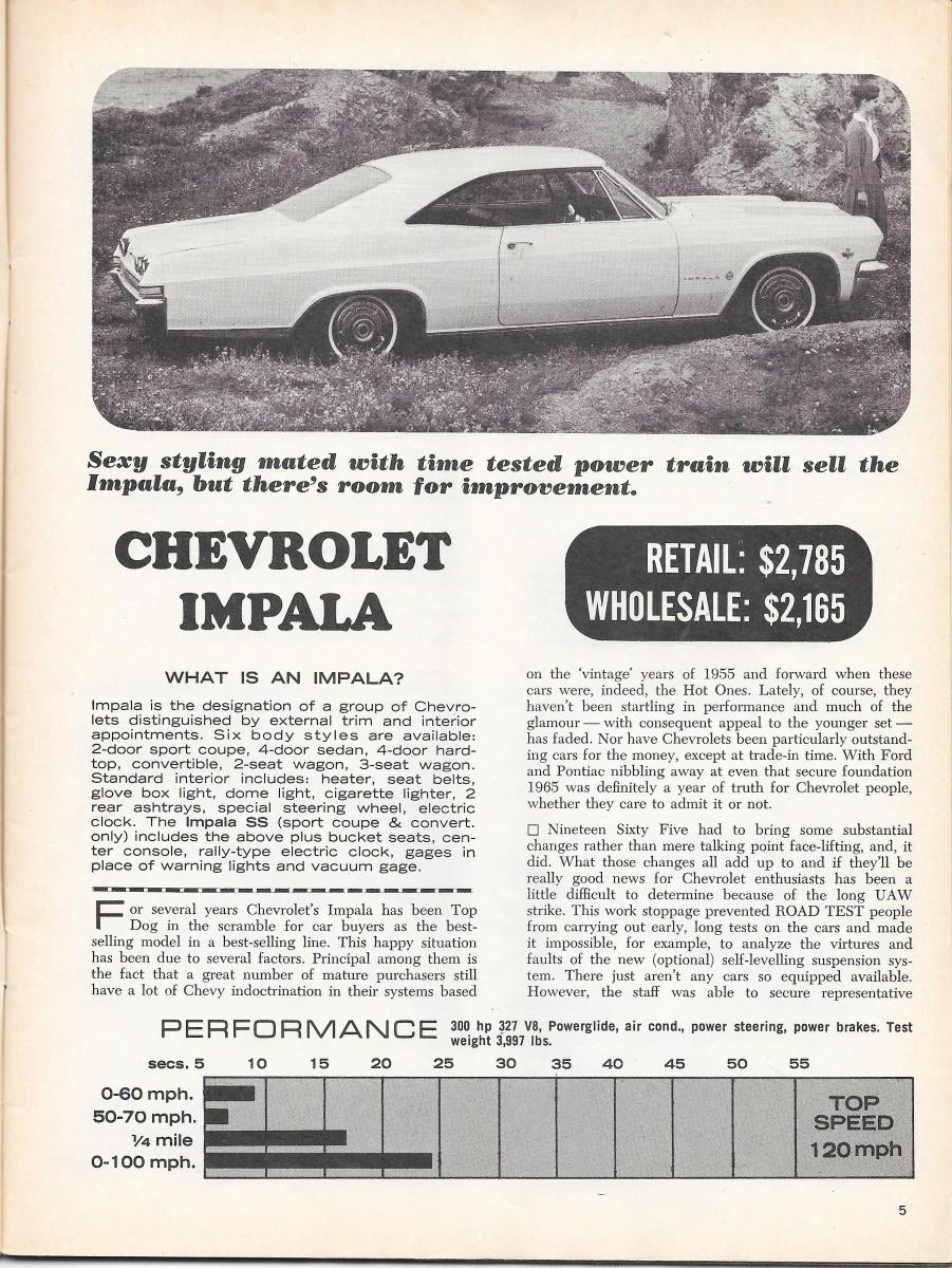 Vintage Reviews: 1965 Chevrolet Impala Sport Coupe – Three Ways To