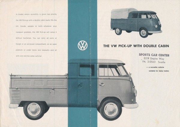 VW 1959 T2 double cab Pu