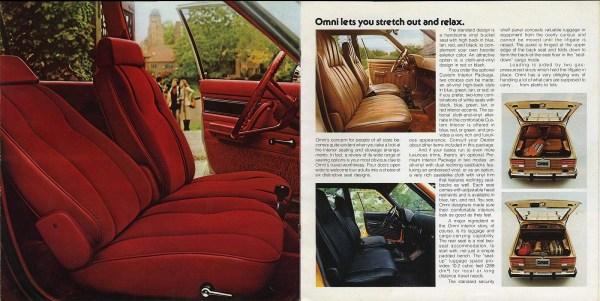 1978 Dodge Omni interior brochure