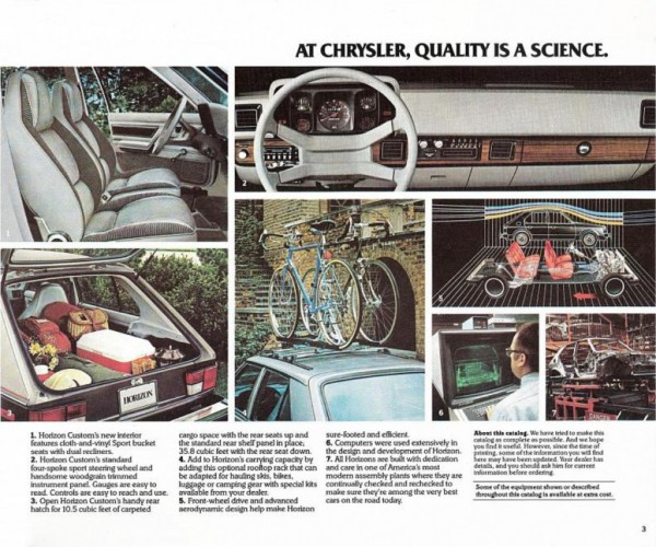 1982 Plymouth Horizon interior