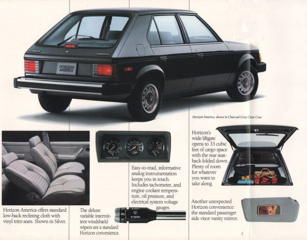 1988 Plymouth Horizon America brochure