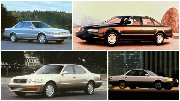 1990 infiniti lexus lineups