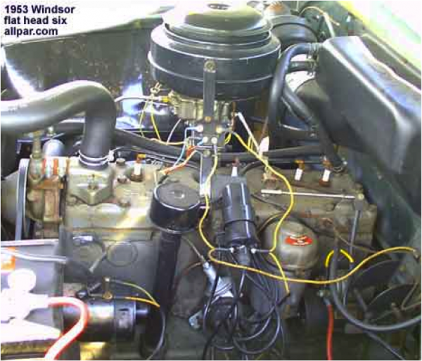 1953 Chrysler Windsor Six Cylinder Flat Head Engine