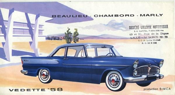 1958 Simca Vedette coupe