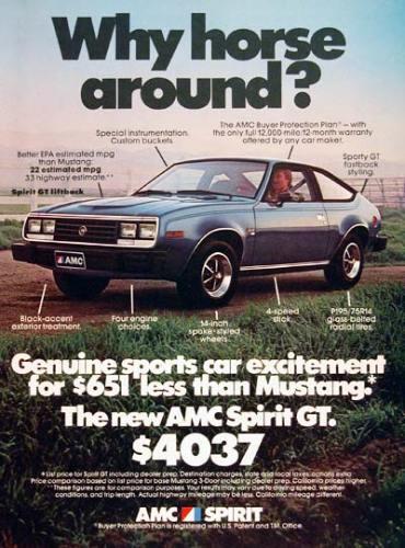 1979 AMC Spirit GT ad