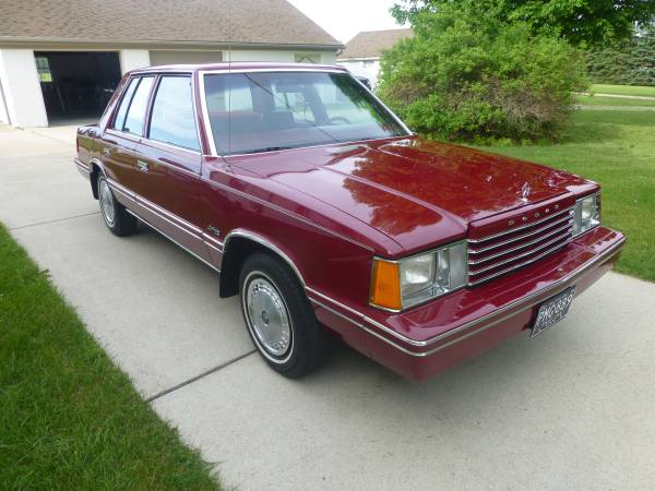 Cc For Sale 1983 Dodge Aries In Like New Condition K Then