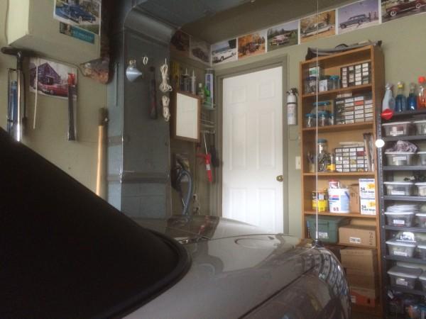 Current Garage with Medicine Cabinet near door