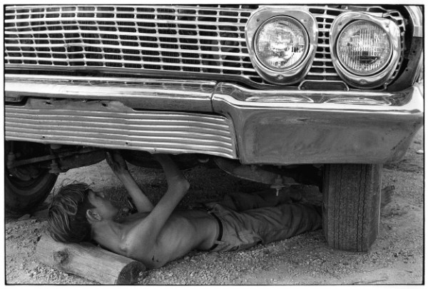 Gedney KY-boy-under-car