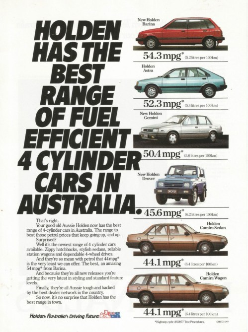 1986 holden print ad