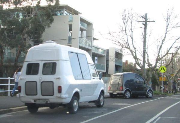 Bedford CF ex ice cream van