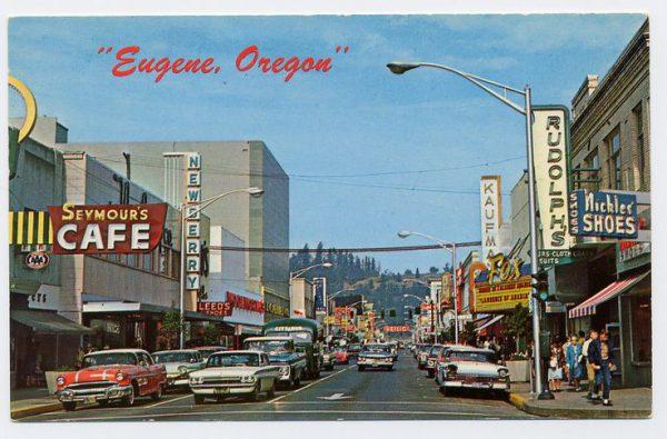 Eugene 1950s postcard
