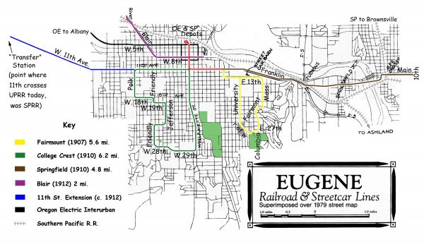 Eugene streetcars_map_of