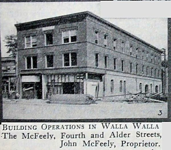 McFeely Hotel construction, 1911