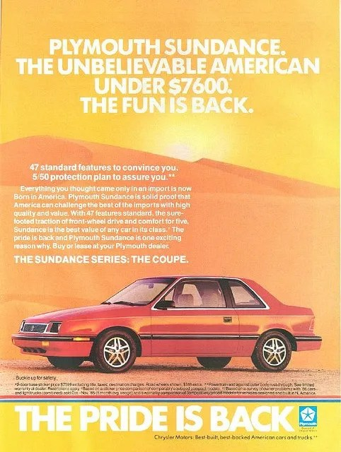 Plymouth Sandance Ad