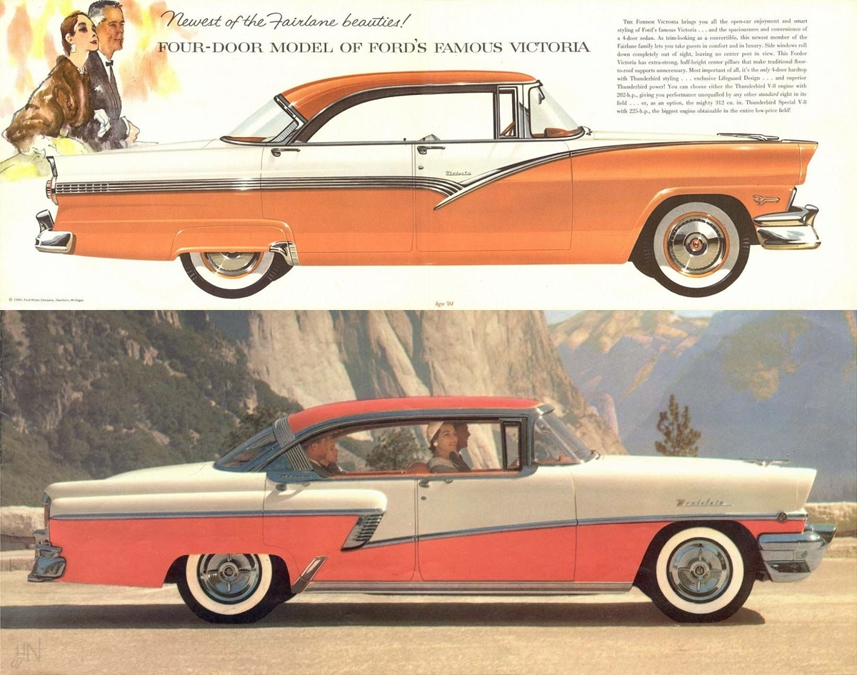 Curbside Classic 1956 Ford Fairlane Fordor Victoria More Doors Window Lift Wiring Diagram For Studebaker Passenger Car 4 Door Sedans Models Brochure02 Vert