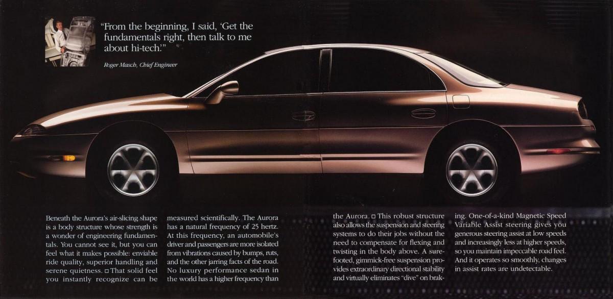 1995 oldsmobile aurora ad. Black Bedroom Furniture Sets. Home Design Ideas