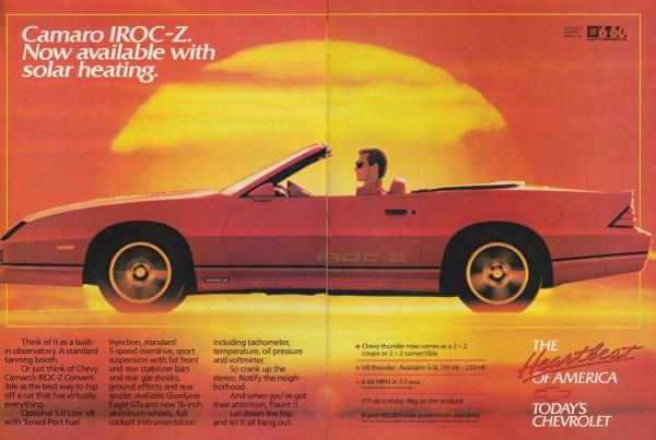 Ad 1988 Chevrolet Camaro convertible