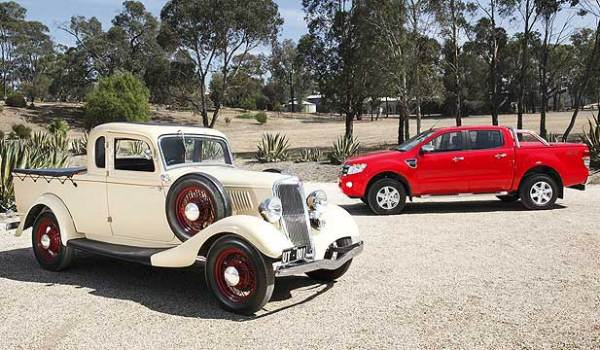 1934 ute with 2014 Ranger