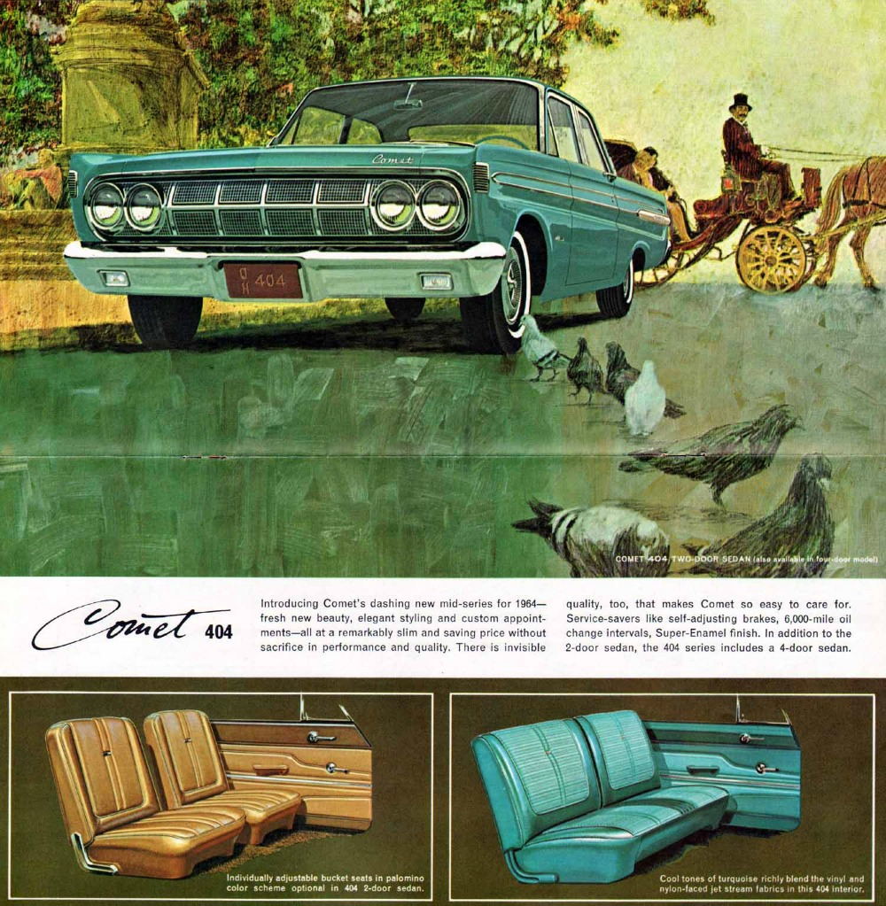 curbside classic 1964 mercury comet 404 sedan a celestial body at dusk. Black Bedroom Furniture Sets. Home Design Ideas