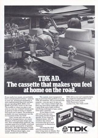 Ad TDK cassettes 1979