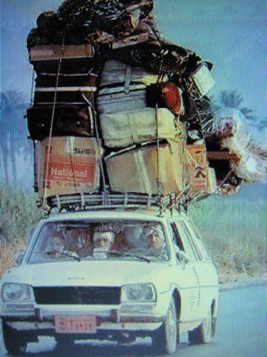Peugeot 504 wagon big load