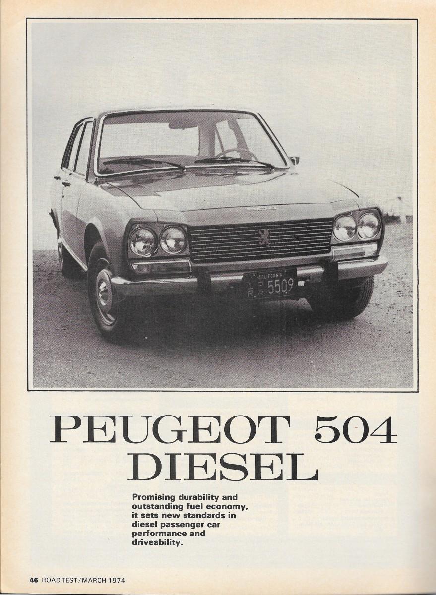 Vintage Review 1974 Peugeot 504d Doctor Diesel S Pug Patient