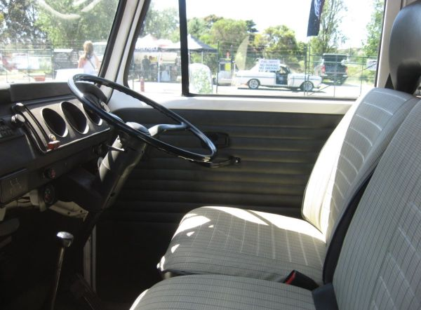 VW race transporter interior