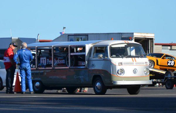 VW race transporter loaded
