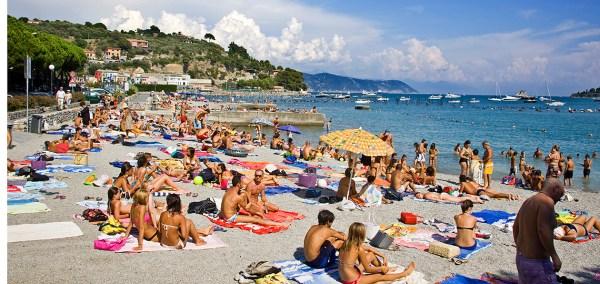 View of Portovenere in summer, Liguria, Italy