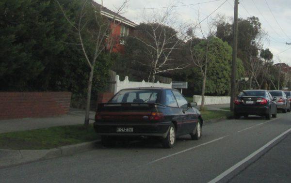 1990 Ford Laser TX3 Turbo black rear