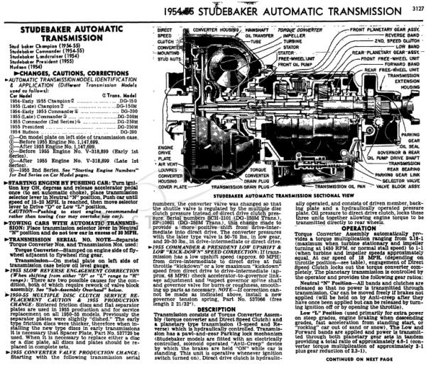 Studebaker Automatic drive 1954-1955