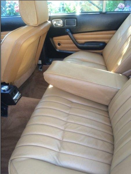 1975 Peugeot 604 rear seats