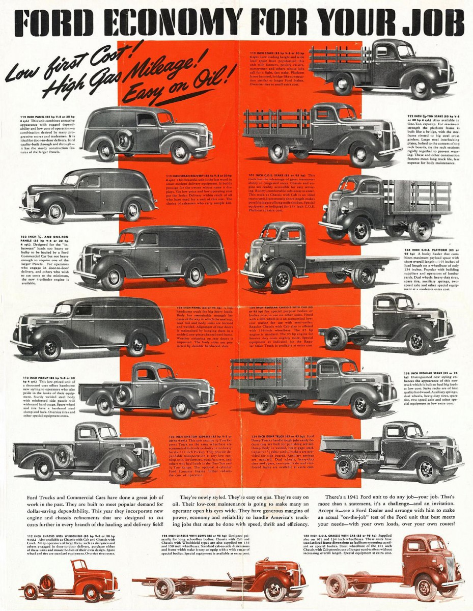 The Little Engines That Could Part 1 1941 1942 Ford 30 Hp Four Farm Truck Foldout 05