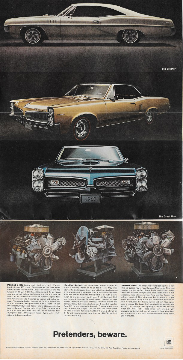 Vintage Ads: Motor Trend's 1967 New Car Issue – Ads Galore!