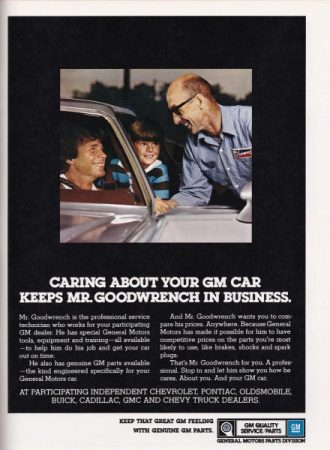 Ad 1978 Mr Goodwrench