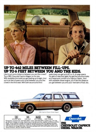 Ad 1981 Chevrolet Caprice Diesel wagon