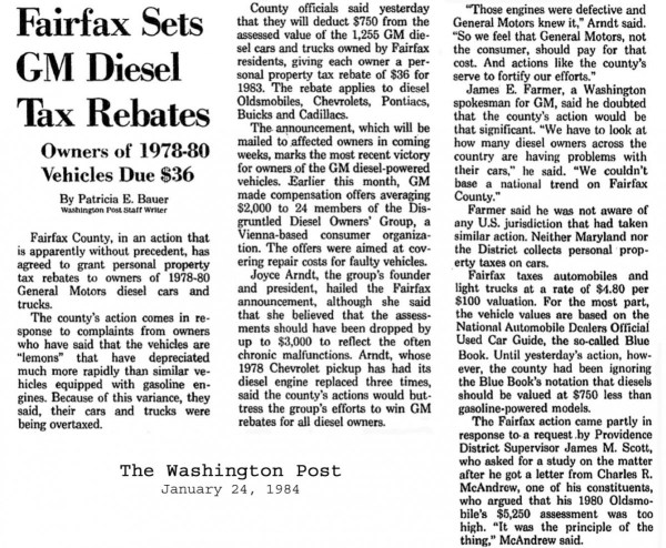 Article 1984 Fairfax Tax
