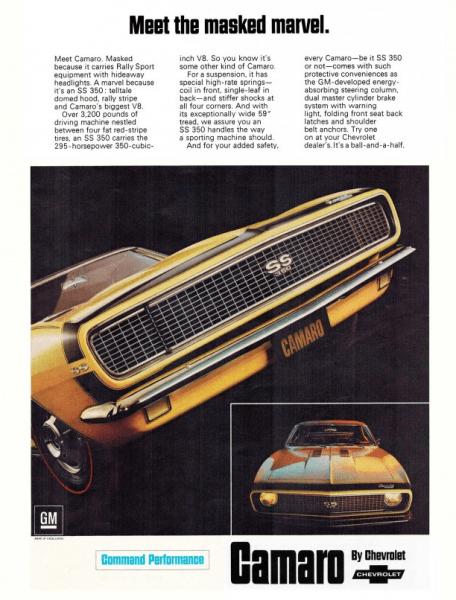 Camaro 1967 ss350 ad