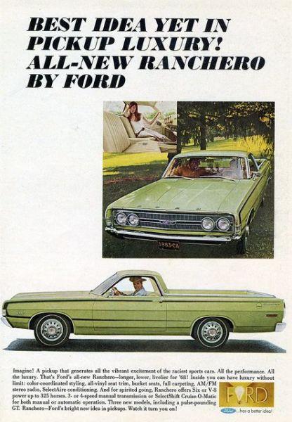 Ford ranchero 1968 ad
