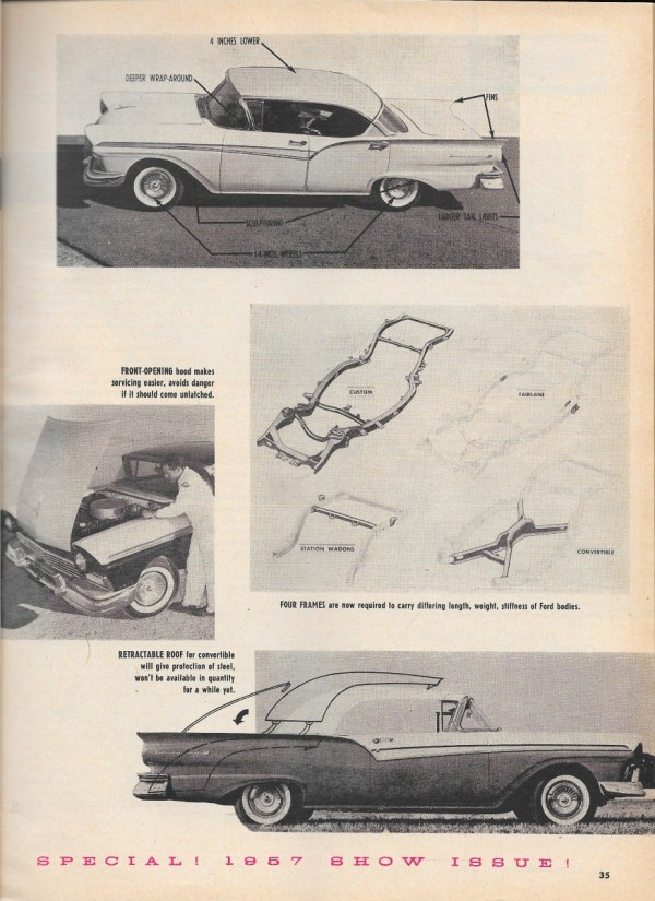 Vintage reviews motor trend s 1957 new car issue ford Ford motor company complaints