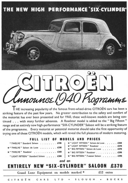 """The """"Big Six"""" barely made it to the British market as a 1940 model."""