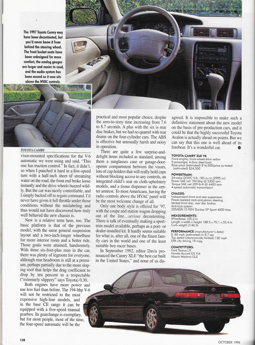 Vintage Reviews: Automobile Magazine's 1997 New Car Issue – First ...