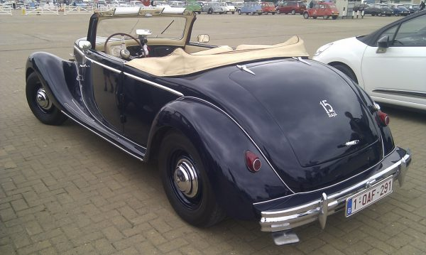 Same car, six decades later. Langenthal made about 40 convertibles 11 CVs, but only two with the Six.