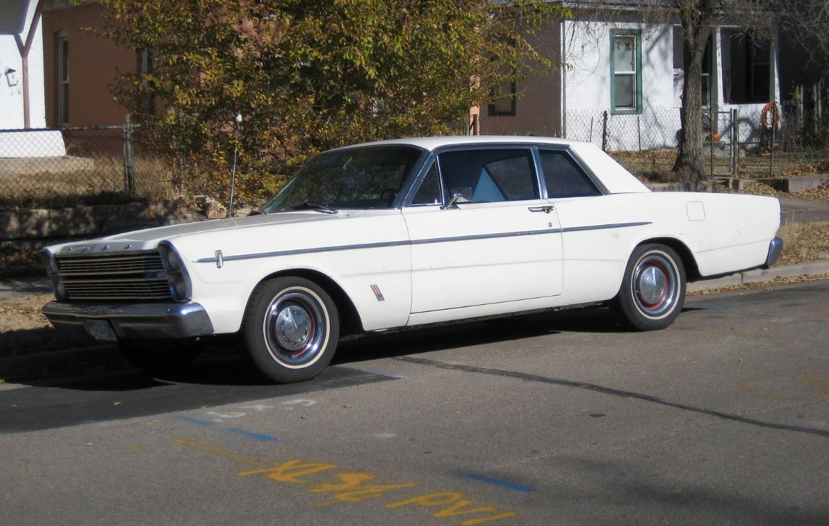Cohort Outtake 1966 Ford Custom 500 2 Door Sedan White