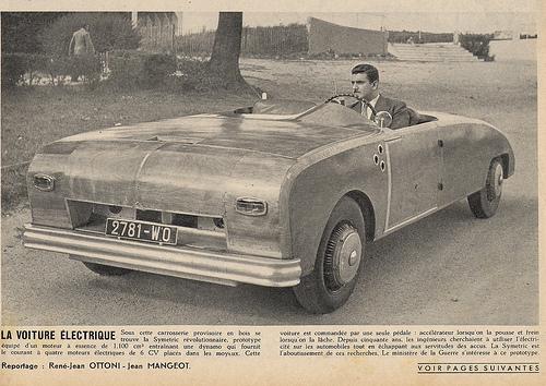 Prototype Symétric roadster, circa 1954.