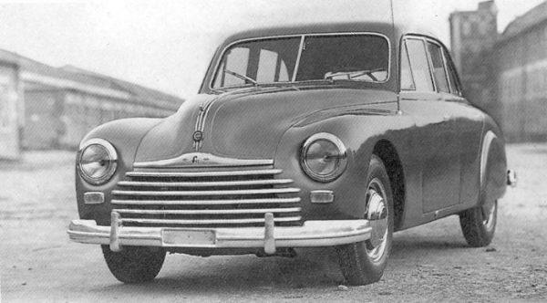 Convergent evolution? The 1947 CEMSA Caproni F11, later reborn as the Lancia Flavia.