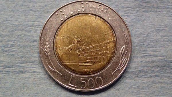 Italian Coin(?) back.
